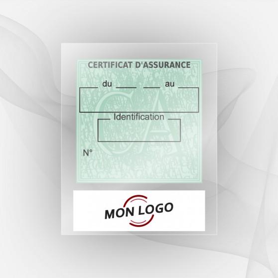 Porte Vignettes Assurance Personnalisé Moto