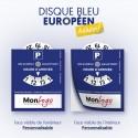 Disque Bleu Européen Adhésif Personnalisé